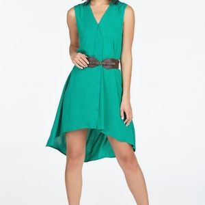 Belted high-low dress, sz S